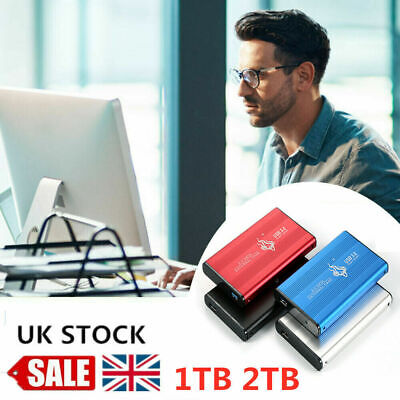 UK 2.5'' USB 3.0 2TB External Hard Drive Disk HDD Fit For PC Laptop Portable