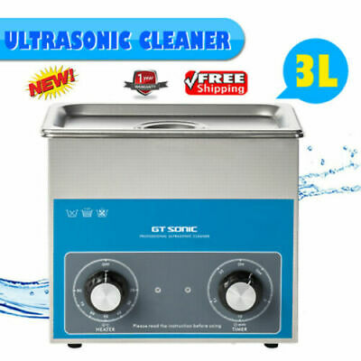 3L 40KHZ Ultrasonic Cleaner UV Bath For Jewellery Denture Cleaning With Timer UK