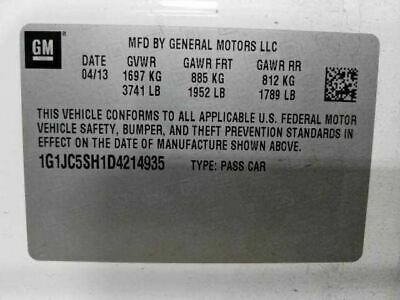 Passenger Axle Shaft Front Axle Automatic Transmission Fits 12-18 SONIC 1548302