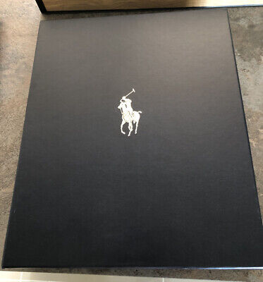 Genuine Ralph Lauren Polo Designer Throw Presentation Gift Box Blue Empty