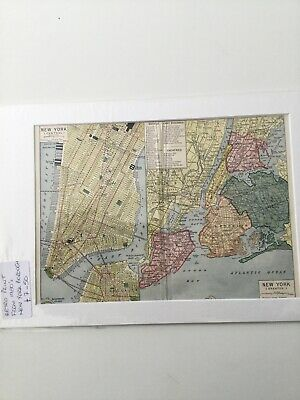 Retro Map Of New York 1950's The Five Boroughs