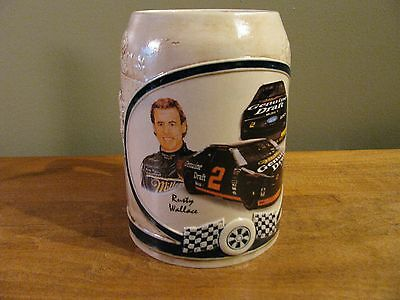Vintage Miller Beer Stein Racing Team Rusty Wallace No. 3052 Collectors Items