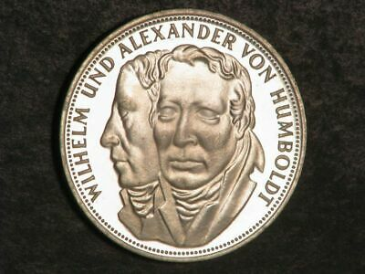 GERMANY 1967F 5 Mark Humbolt Silver Proof
