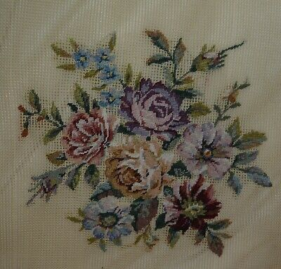 """""""Aubusson Petit Point Floral"""" - Preworked Needlepoint"""