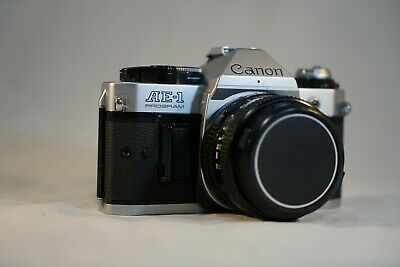 Canon AE-1 Program 35mm Film Camera w/ 50mm F1.8 Lens EXCELLENT - WORKING