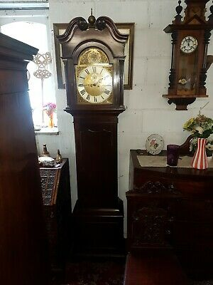 Mahogany 8 Day Longcase Grandfather Clock Georgian design