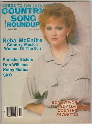 Country Song Roundup Magazine	April 1987 Reba McEntire Forester Sisters Don Will