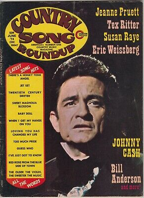 Country Song Roundup Magazine	June 1974 Johnny Cash Bill Anderson Susan Raye Tex