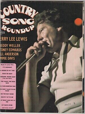 Country Song Roundup Magazine April 1975 Jerry Lee Lewis Jimmie Davis Stoney