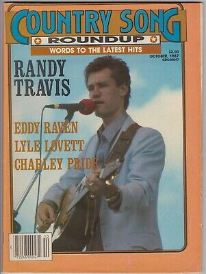 Country Song Roundup Magazine October 1987 Randy Travis Lyle Lovett Eddie Raven