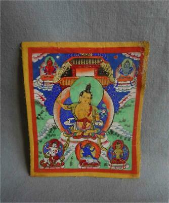 Antique Tibet Mongolia TOP HIGH AGED USED BUDDHIST TANTRIC TSAKLI RITUAL CARD