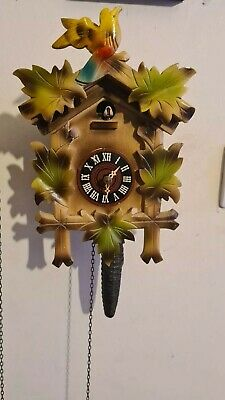 Quarter hour call cuckoo clock in working order