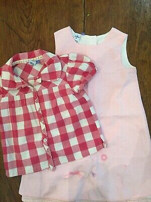 EUC British Designer Jasper Conran Girls Junior J Dress & Blouse, Sz 4