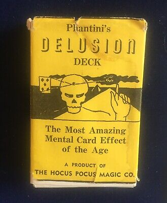 Vintage Magic Trick Phantini's Delusion Deck Hocus Pocus Prediction Effect 1957