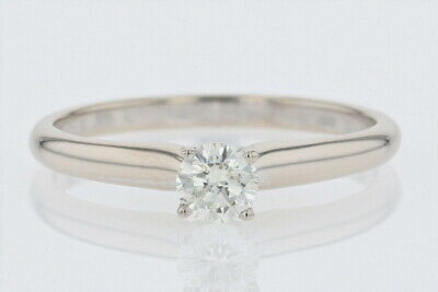 .30ct Round Cut Diamond Solitaire Engagement Ring 14k White Gold Size 6.75