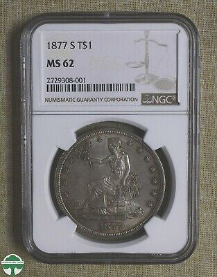 1877-S Trade Dollar - Ngc Certified - Ms62