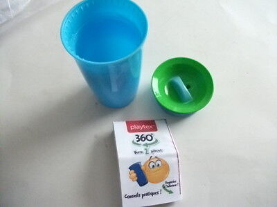 Playtex 360 degree 2 Pc. Spoutless Training Drinking Cup - Brand New Never Used
