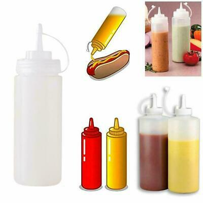 250//500//1000ML Plastic Clear Squeeze Squeezy Sauce Bottle Mayo Dispenser Bottle