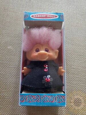"Vintage Scandia Dam Troll Doll 1960's 2-3/4"" NEW IN BOX!!! NEVER PLAYED WITH"