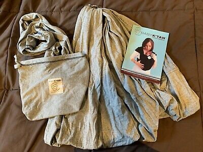 Baby K'tan XS Heather Gray Cotton Baby Infant Sling Wrap Carrier