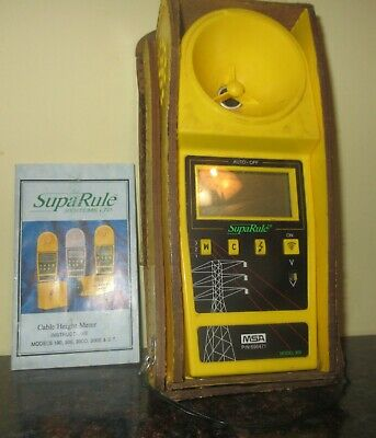 Supa Rule Systems Model 300 Ultrasonic Cable Height Meter Electric Power Company