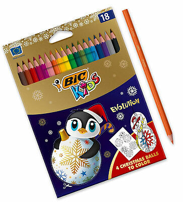 BIC Kids Evolution ECOlutions Colouring Pencils, Christmas Edition - Assorted