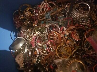 Jewelry Vintage-Modern Huge  Lot Craft, Junk, Wearable, 3+FULL POUNDS