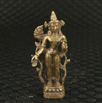 Blessing Chinese asian bronze Tibet buddha statue figure table decoration