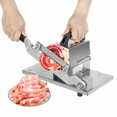 Home Cooking Meat Slicer CutterStainless Steel Manual Frozen Beef Mutton Roll