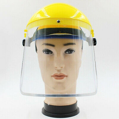 Clear Head-mounted Protective Safety Full Face Eye Shield Screen Grinding #AX1