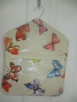 Handmade Oil Cloth /Laminated Cloth Peg Butterflies  New