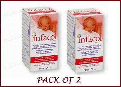 NEW INFACOL Colic Relief Drops For Babies - 50ml PACK OF 2