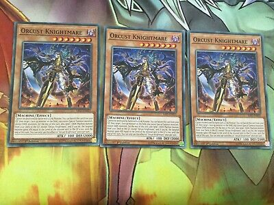 Common x3 Orcust Knightmare SPANISH  SAST-EN021 unlimired Edition