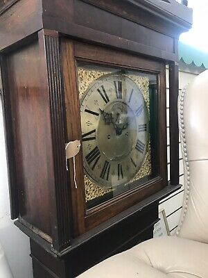 Cracking Country Georgean Brass Face Grandfather Clock