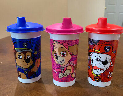 Tupperware Paw Patrol Bell Tumblers With Sipper Seal Domed Set !!!!