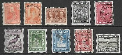 Used Lot of Stamps From Newfoundland