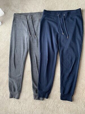 Primark Ladies Pair Of Jogging Bottoms Grey And Blue Size M 12/14