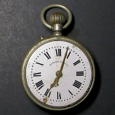 Antique 1870's Swiss/French  2nd Generation Roskopf Patent Pocket Watch - 354A
