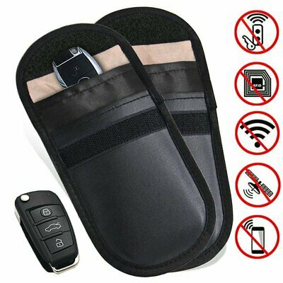 2 X Car Key Signal Blocker Pouch, Faraday Bag for Car Keys, RFID Key Pouch,