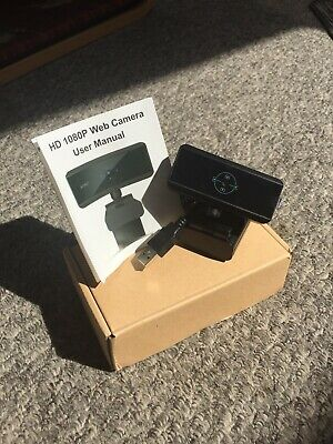 HD 1080p Webcam Camera With Built In Microphone USB Connection For Windows/Mac