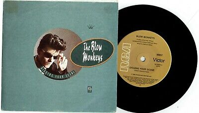 "BLOW MONKEYS - DIGGING YOUR SCENE - 7"" 45 VINYL RECORD w PICT SLV - 1986"