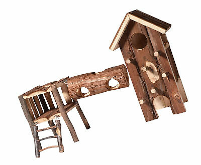 dobar 80072 Rodent Playground with Climbing Tower, Tunnel and Two Levels with x