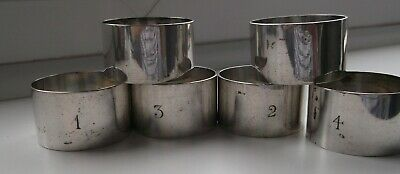 Vintage Silver Plated  JAMES DIXON Napkin Rings x Set of 6