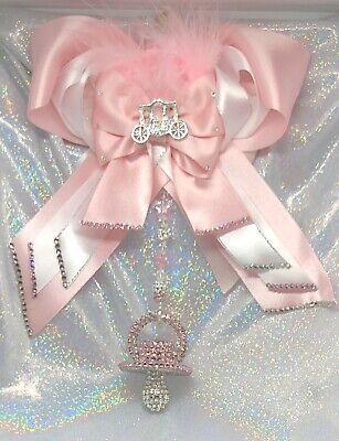Romany Crystal Bling Dummy Soother Pram Charm Christening Baby Shower Gift