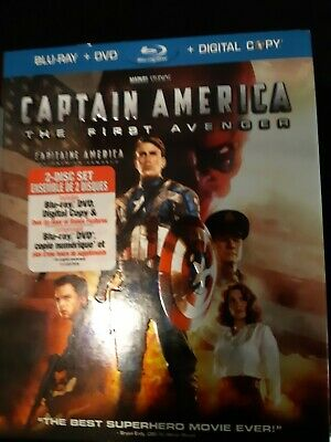 Captain America: The First Avenger (Blu-ray/DVD, 2011, Canadian Includes Digita…