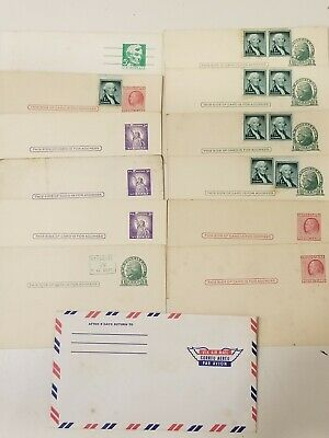 Rare Early 1900s U.S. Stamped Blank Postcards Uncancelled United States Stamps