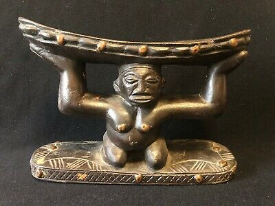 Headrest Luba Democratic Republic of Congo Zaire Africa Appuie-Nuque