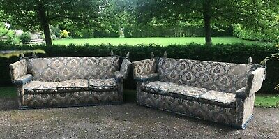 Not 1 but 2!! Huge Pair of 3 / 4 Seater Knole Settees Sofas. From Harrods