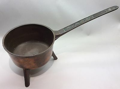 Late 18th Early 19th Century Bronze Skillet Marked Warner 2P (2pint) Georgian.