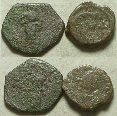 Lot Ancient Byzantine Coins John labarum cross Christ gospels Anastasius Epsilon